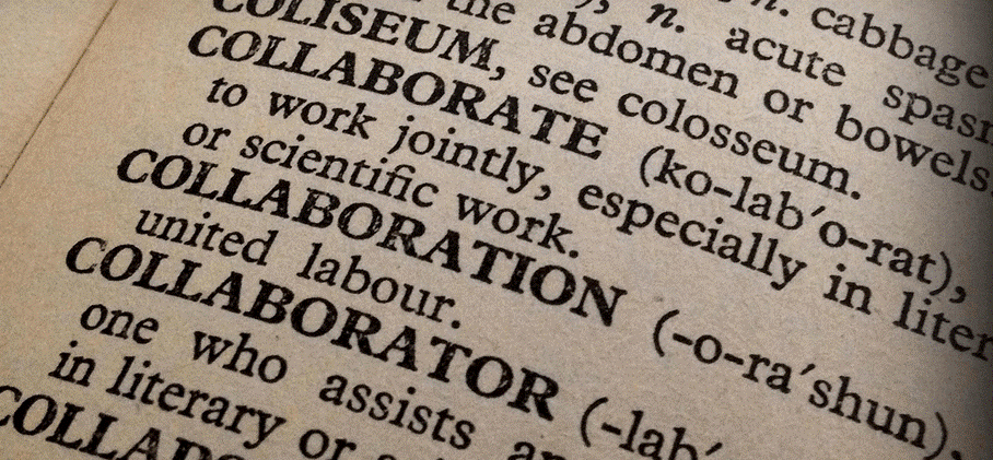 image of dictionary page on collaboration